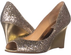 Badgley Mischka Gold Wedges