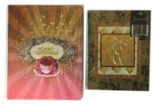 Other Beautiful Embellished Hardback Journal Set;
