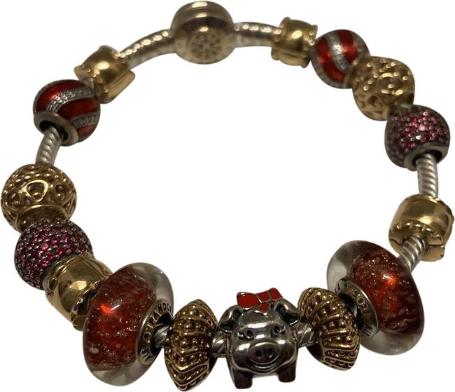 Item - Red and Silver and Gold Mystic Serenity Bracelet