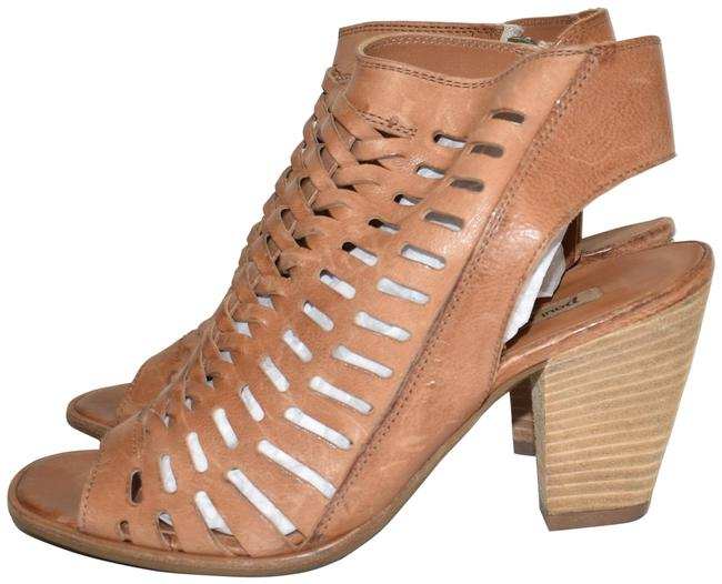 Item - Cuoio Brown Rosa Woven Peep Toe Bootie (Pg3) Sandals Size US 5.5 Regular (M, B)