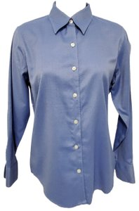 Eddie Bauer Wrinkle Resistant Shirt Long Sleeve Button Down Shirt Blue