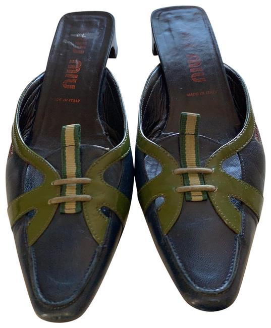 Item - Navy and Olive Green Flats Size EU 38 (Approx. US 8) Regular (M, B)