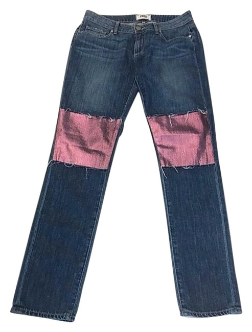 Item - Blue and Pink Distressed Skinny Jeans Size 4 (S, 27)