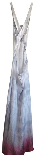 Item - Pink Silver and White Very Flattering Sheet Casual Maxi Dress Size Petite 4 (S)