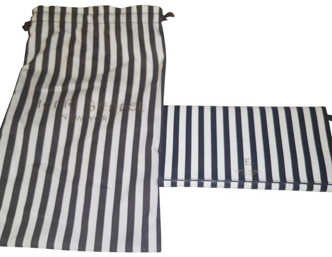 Item - Jewelry Travel Case Brown and White Stripe Leather Wristlet