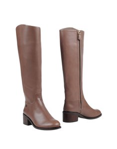 Tory Burch Fulton Leather Topo Brown Boots