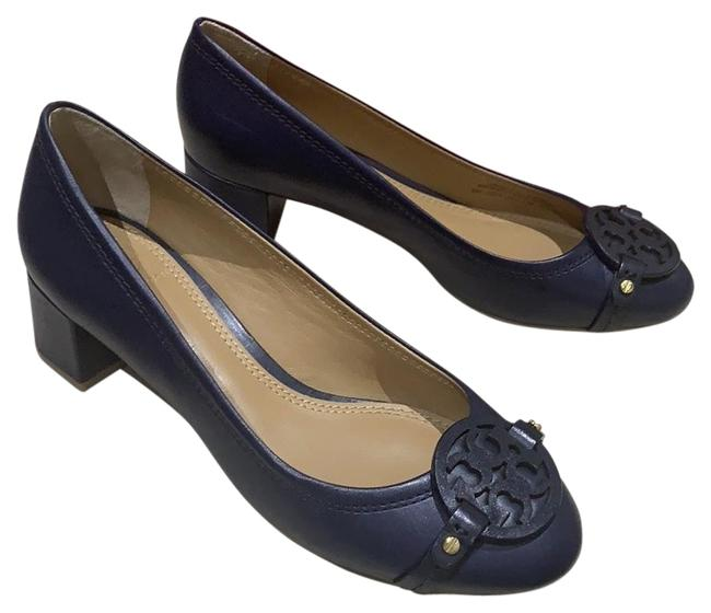 Item - Navy Gabriel 45mm Pumps Size US 6 Regular (M, B)
