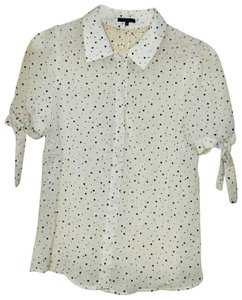 Theory Top Cream and Black