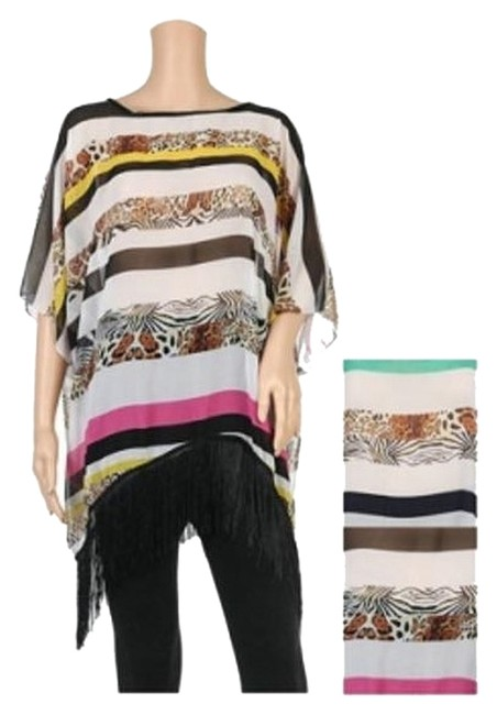 Preload https://item3.tradesy.com/images/pink-leopard-chiffon-tassel-summer-poncho-shawlcover-up-cardigan-size-os-one-size-2687482-0-0.jpg?width=400&height=650