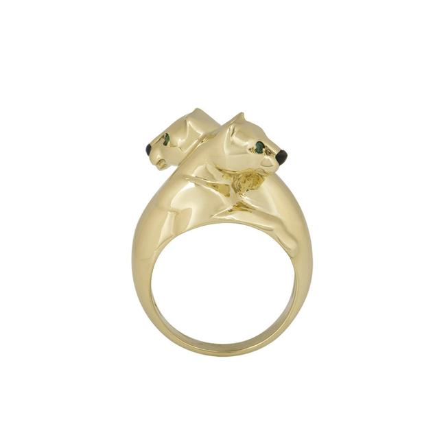 Item - 18k Yellow Gold Double Panthere De Size 7.5 Ring