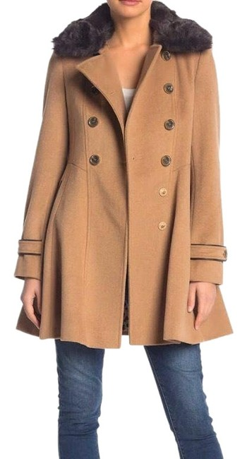 Preload https://img-static.tradesy.com/item/26874906/via-spiga-camel-double-breasted-fit-and-flare-coat-size-16-xl-plus-0x-0-1-650-650.jpg