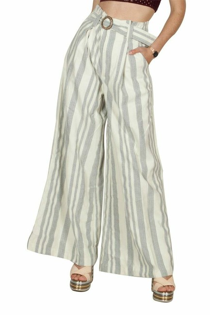 Item - Blue White Pants Stripe Women 10 New 270 Trouser/Wide Leg Jeans Size 33 (10, M)