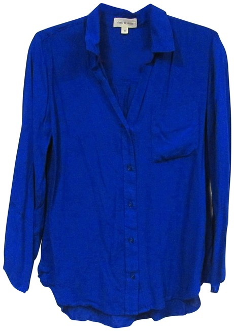 Item - Blue Cloth & Stone Royal Button-down Top Size 8 (M)