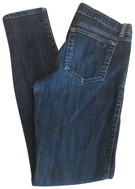 Item - Blue Medium Wash Rolled Cuff Chelsea Straight Leg Jeans Size 8 (M, 29, 30)