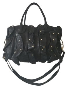 Steve Madden Satchel in Black Gold