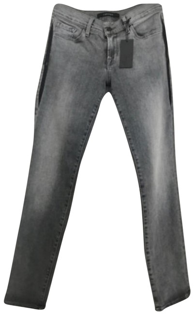 Item - Grey New Hipster Low Straight Leg Jeans Size 26 (2, XS)