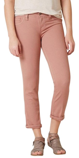 Item - Dusty Pink Light Wash Mid Rise Easy Cropped Skinny Jeans Size 8 (M, 29, 30)