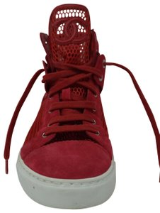chanel Mesh Suede Leather Sneaker red Athletic