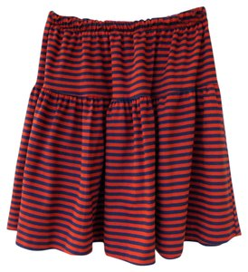 Sandy Shaw Blue Striped Gators Uf Mini Skirt blue, orange