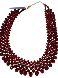 Bella Jack red ruby Sparkling crystal necklace