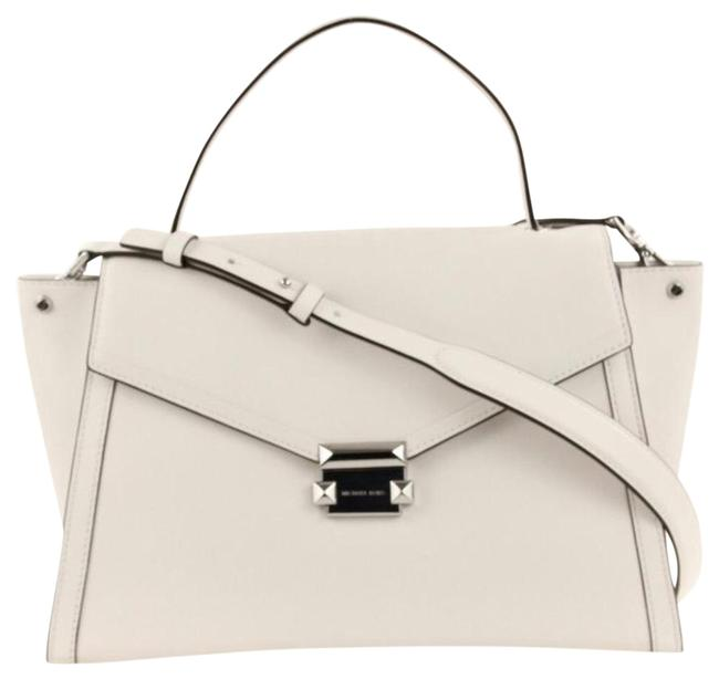 Item - Whitney Optic White Polished Leather ( Smooth) Satchel