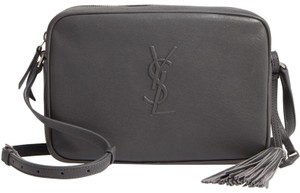 Saint Laurent Camera Mono Leather Cross Body Bag