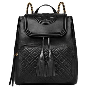 Tory Burch Fleming Leather Quilted Leather Backpack