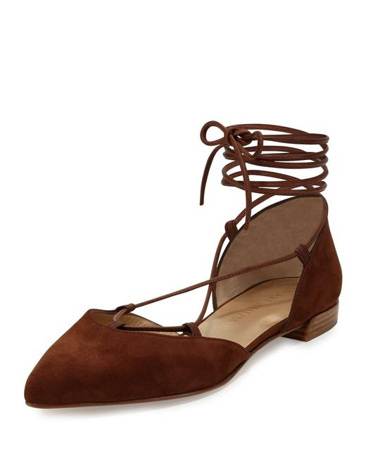 Item - Brown Gilligan Lace-up D'orsay Suede Flats Size US 6.5 Regular (M, B)
