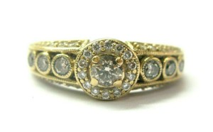 LeVian LeVian Fancy Brown Diamond Ring 14Kt Yellow Gold .69Ct