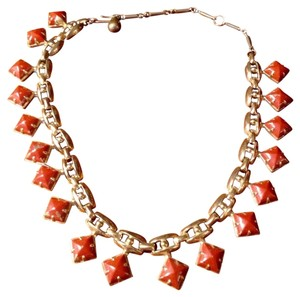 Vintage Gold-Tone & Enamel Necklace