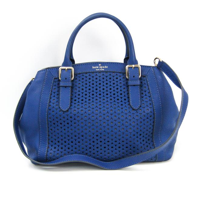 Item - Mercer Isle Sloan Pxru4041 Women's Handbag Blue Leather Shoulder Bag