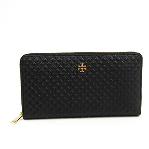 Tory Burch Tory Burch MARION EMBOSSED 31159091 Women's Embossed Leather Long Wallet (bi-fold) Black