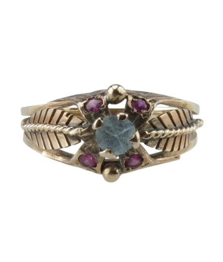 Preload https://img-static.tradesy.com/item/26877594/gold-vintage-14k-ruby-and-blue-amethyst-feather-size-55-177752-ring-0-0-540-540.jpg