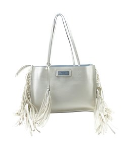 Prada Leather Tote in White