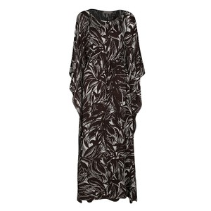 Brown Maxi Dress by Tory Burch Silk Polyester