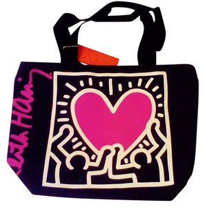 Keith Haring Foundation Tote in Black with Graphic Design