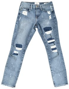 FRAME Capri/Cropped Denim-Distressed