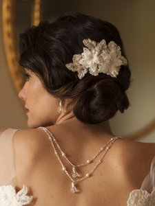 Handmade European Beaded Lace Bridal Comb