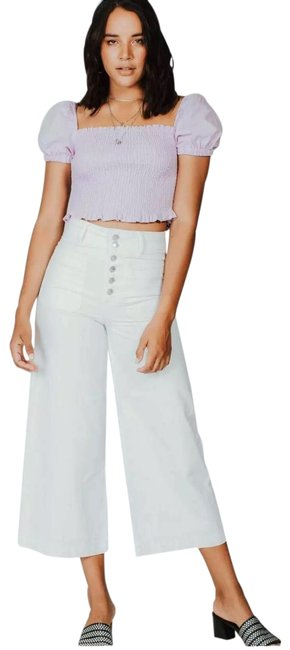 Item - White Colette High Rise Trouser/Wide Leg Jeans Size 4 (S, 27)