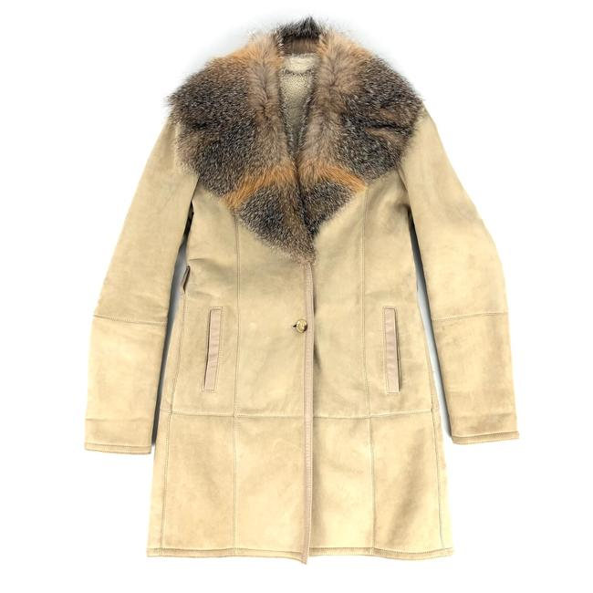 Item - Beige Leather Shearling With Coat Size 8 (M)