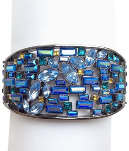 Givenchy Crystal Baguette Hinged Cuff Bracelet