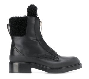 Chloé Roy Shearling Leather Black Boots