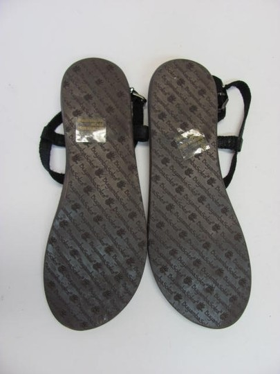 BuyambaSoles New Leather Size 11m BLACK, SILVER Sandals