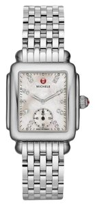 Michele Deco Mid Stainless Steel Mother Of Pearl Diamond Mww06v000002