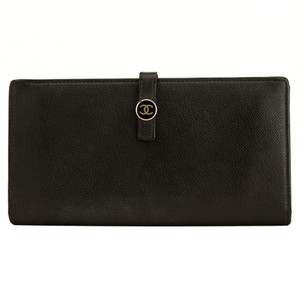 Chanel Chanel Black Caviar Leather Long Wallet 4089008
