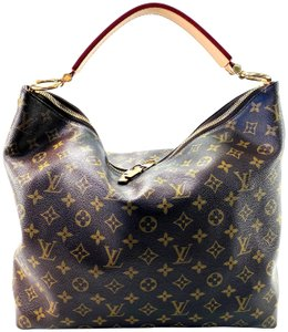 Louis Vuitton Mm Sully Monogram Hobo Bag