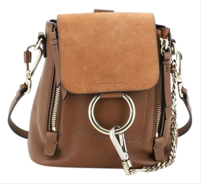 Item - Faye And Suede Mini Brown Leather Backpack