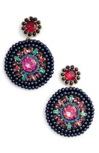 Kate Spade luminous leather statement earrings