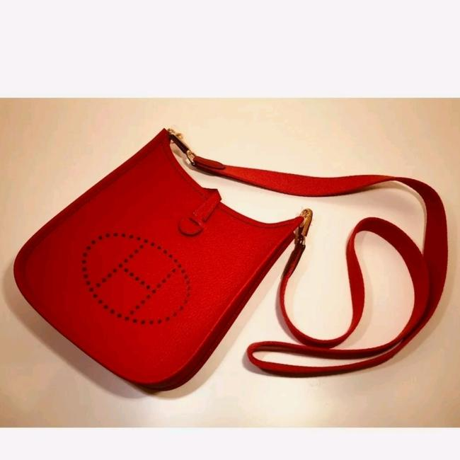 Item - Evelyne Red Decouer Maurice Cowhide Leather Cross Body Bag