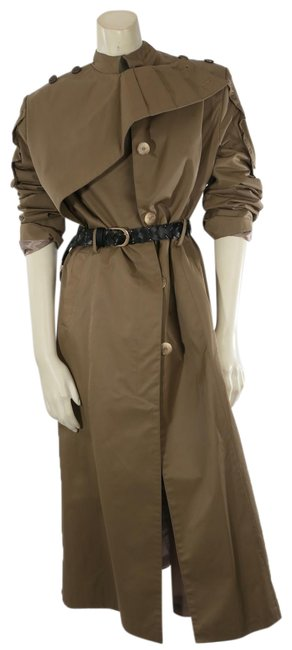 Item - Beige Belted Long Maxi Coat Size 4 (S)